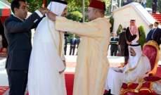 """الملك المغربي يقلّد حسين الجسمي """"الوسام العلوي من درجة قائد"""""""
