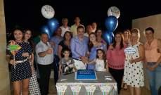 بالصور- باسل عيد يتلقى مفاجأة مميزة في عيد ميلاده