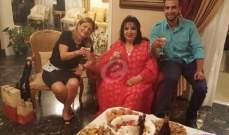 خاص وبالصور- سميرة توفيق تحتفل بزواج هلا المر