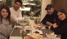 عاصي الحلاني وعائلته يجتمعون مع علي يوسف.. بالصورة