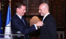 """""""فرنسا"""" تمنح ريكاردو كرم وسام الإستحقاق الفرنسي من رتبة فارس"""
