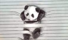 رسام يسجن الحيوانات في أسطر أوراقه