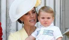 كيت ميدلتون تكشف كلمة الأمير لويس الأولى