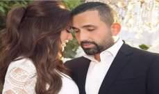الظهور الاول لـ درة وزوجها في حفل زفاف أحمد خالد صالح وهنادي مهنا-بالصور