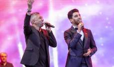 عمر العبداللات ومحمد عساف يقدمان ديو يجمع الشعبين الأردني والفلسطيني