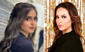 منى السابر تهدد ابنتها حلا الترك بفضحها-بالصوت