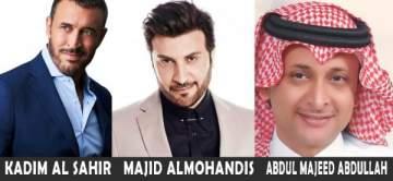 جائزة عالمية ترشح كاظم الساهر وماجد المهندس وعبد المجيد عبدلله لهذا اللقب