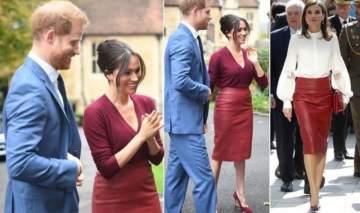ميغان ماركل والملكة ليتيزيا إرتدتا التنورة نفسها