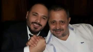 صورة تجمع رامي عياش وجورج وسوف يداً بيد