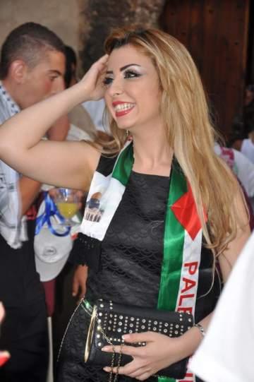 ملكة جمال العرب نادين فهد مع أطفال القدس..بالصور