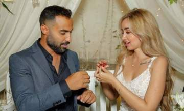 أول هدية زواج لـ هنا الزاهد وأحمد فهمي قبيل زفافهما الليلة -بالصورة