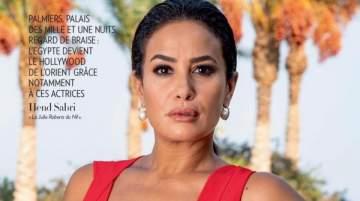 هند صبري أول فنانة عربية تتصدر غلاف مجلة فرنسية