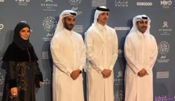 خاص بالصور- وصول الشيخ ثاني بن حمد آل ثاني الى مهرجان أجيال السينمائي وإختتام مراسم السجادة الحمراء