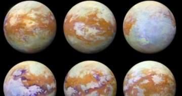 ناسا تنشر صوراً لواحد من أكبر أقمار كوكب زحل..بالصور