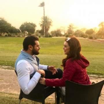 إطلالة رومنسية لـ كندة علوش وعمرو يوسف من حفل زفاف هنا الزاهد وأحمد فهمي-بالصورة