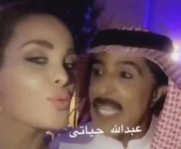 دومينيك حوراني تنشر فيديو مع عبدالله بالخير وتختتمه بقبلة