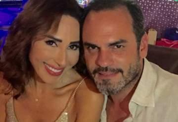 ورد الخال وباسم رزق يحتفلان بذكرى زواجهما برومانسية- بالصورة