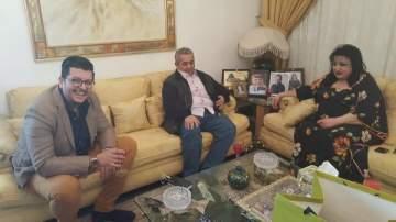 داوود الشريان يزور سميرة توفيق في الحازمية.. بالصور