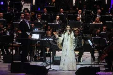 خاص بالصور- ماجدة الرومي تختتم مهرجان الموسيقى العربية وتوجه رسائل وتقول :
