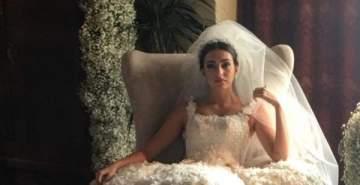 نادين نسيب نجيم وفاليري أبو شقرا ودرة ونيللي كريم بفساتين الزفاف في رمضان