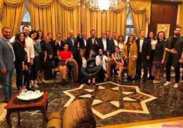 سفير لبنان في قطر حسن نجم يكرم نزار فرنسيس وغسان صليبا وباسمة وجورج نعمة وبريجيت ياغي وجورج الصافي