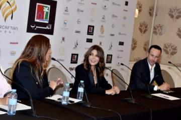 سميرة سعيد وريم البارودي في عرض أزياء لمياء منهل للقفطان المغربي- بالصور