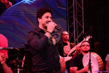 بالصور- إلهام شاهين ومحمد منير والمشاهير في حفل مصطفى حجاج الرمضاني