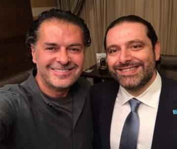 راغب علامة يستعين بـ سعد الحريري قبل إطلاق كليبه الجديد..بالصورة