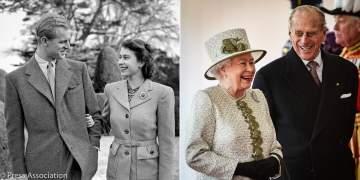 الملكة اليزابيث الثانية والأمير فيليب يحتفلان بعيد زواجهما الـ72