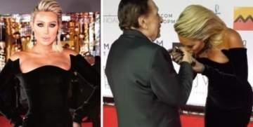 هكذا علّقت مايا دياب على فيديو تقبيلها يد عادل إمام