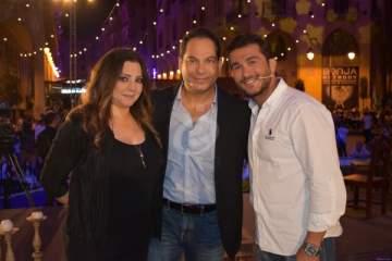 خاص بالصور- سهرة رمضانية مع ميرنا مكرزل وجورج الراسي