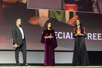 "مهرجان مراكش يحتفل بـ هند صبري ونجاح فيلمها ""نورا تحلم"".. بالصور"