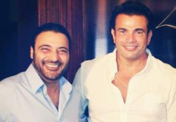 هدية مميزة من حميد الشاعري لـ عمرو دياب لمناسبة عيد ميلاده- بالفيديو