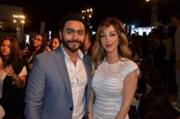 ماذا قالت بسمة بوسيل لزوجها تامر حسني عن ألبومه الجديد؟- بالصورة