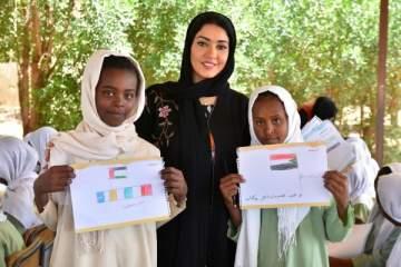 سمر الشامسي تطلق حملتها الإنسانية ضمن فعاليات أسبوع الإمارات في السودان - بالصور