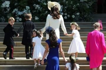 الأمير جورج والأميرة شارلوت يخطفان الأنظار في الزفاف الملكي