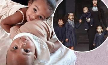 كيم كارداشيان تنشر صور جديدة لأولادها
