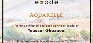 """""""إكزود"""" يستقبل المعرض الثالث عشر للفنان يوسف غزاوي تحت عنوان """"اكواريل"""""""