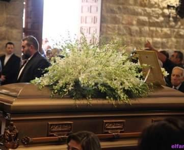 دفن وعزاء والد فارس كرم