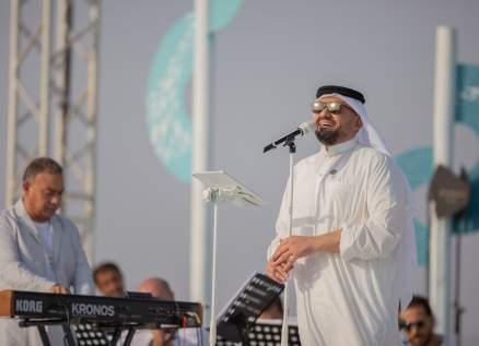 حسين الجسمي يحتفل ويغني فخراً بالسعودية في اليوم الوطني الـ90.. بالصور