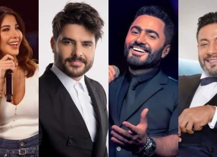 نانسي عجرم وتامر حسني وزياد برجي وناصيف زيتون في أقوى منافسة بتترات مسلسلات رمضان 2021