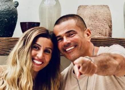 تطور جديد في علاقة عمرو دياب ودينا الشربيني وهذا ما لم ينتبه إليه الجمهور