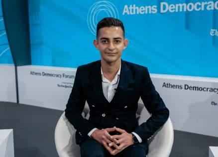 شاكر خزعل يطلق صرخته في مؤتمر أثينا الديمقراطي لحلّ أزمة اللاجئين