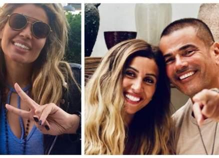 عمرو دياب ودينا الشربيني وزينة عاشور معاً في دبي إحتفالاً بـ رأس السنة-بالصور
