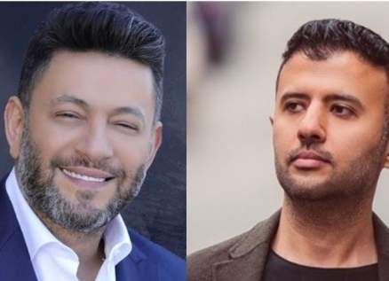 """زياد برجي يهنئ حمزة نمرة على أغنيته """"فاضي شوية""""-بالصورة"""