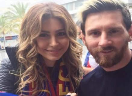 يارا مستاءة رغم تلقيها هدية ثمينة من ميسي وفوز برشلونة-بالصور