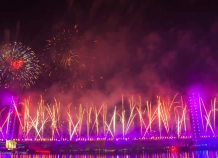بالصور- مصر تستعرض أقوى عرض للألعاب النارية في رأس السنة