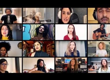 """آمال مثلوثي تصدر نسخة جديدة من """"كلمتي حرة"""" بصوت جاهدة وهبي وظافر العابدين وفايا يونان ونجوم عالميين-بالفيديو"""