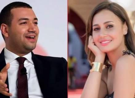 إبن ووالدة معز مسعود مفاجأة حفل عقد قرانه على حلا شيحة-بالصور