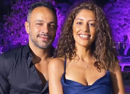 محمد عطية يحتفل بخطوبته على ميرنا الهلباوي -بالصور
